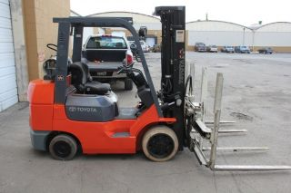 Toyota Forklift With Double Wide Cascade Forks, photo