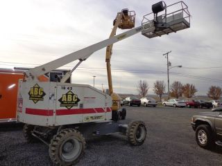 2000 Terex Aerial Man Telescope Boom Lift Self Propelled 4x4 Straight 48 ' Diesel photo