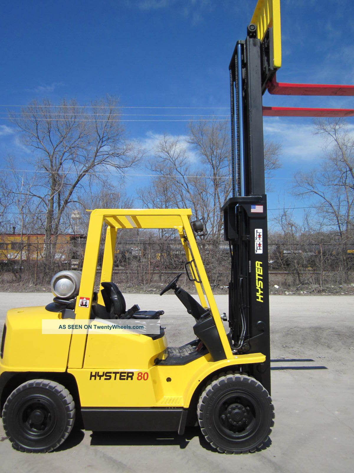 2005 Hyster H80xm Forklift Lift Truck Hilo Fork Pneumatic 8 000lb Lift Yale