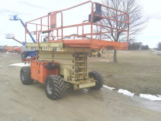 Jlg 40rts Scissor Lift Aerial Boom Man Stack Genie 4x4 Dual Fuel Illinois photo