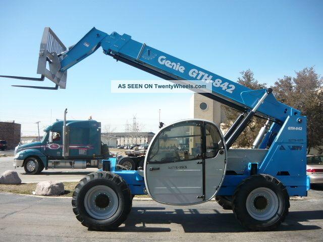 2007 Genie Gth842 Telehandler Terex 842c Full Cab Telescopic Forklift Reach Lift Lifts photo
