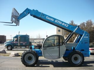 2007 Genie Gth842 Telehandler Terex 842c Full Cab Telescopic Forklift Reach Lift photo