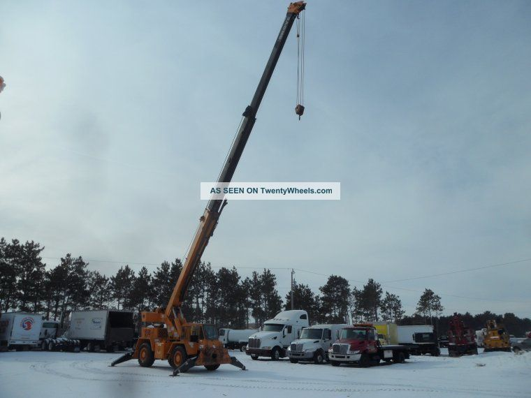 1991 Grove Rt - 58d 20 Ton Down Cab Rough Terrain 4x4 Crane Cranes photo