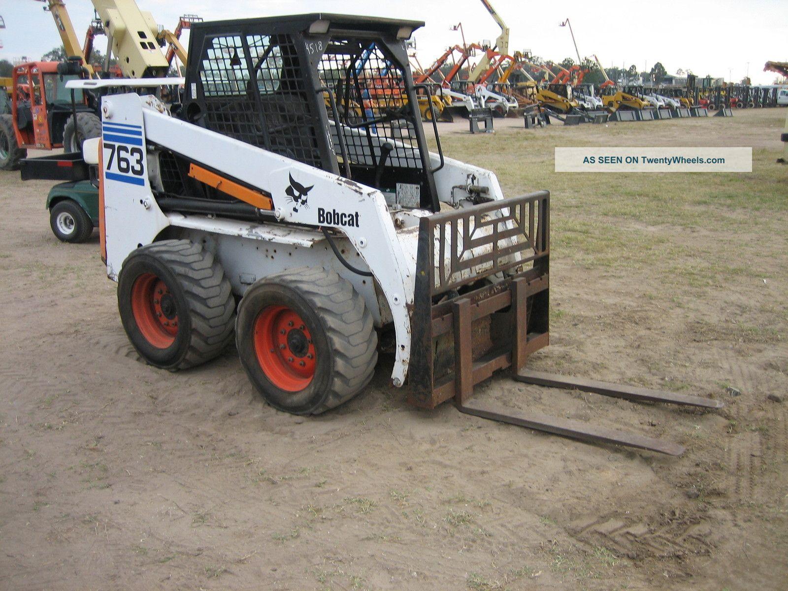 1999 Bobcat 763 Rubber Tire Skidsteer Diesel Machine With