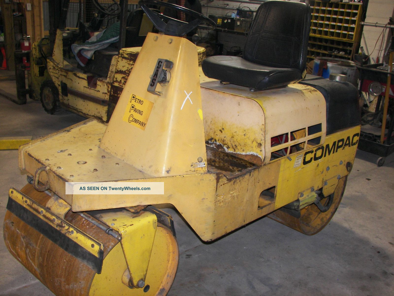 Compac Double Smooth Roller Gas Vibratory Newer Engine Indiana Compactors & Rollers - Riding photo