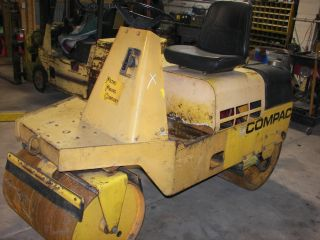 Compac Double Smooth Roller Gas Vibratory Newer Engine Indiana photo