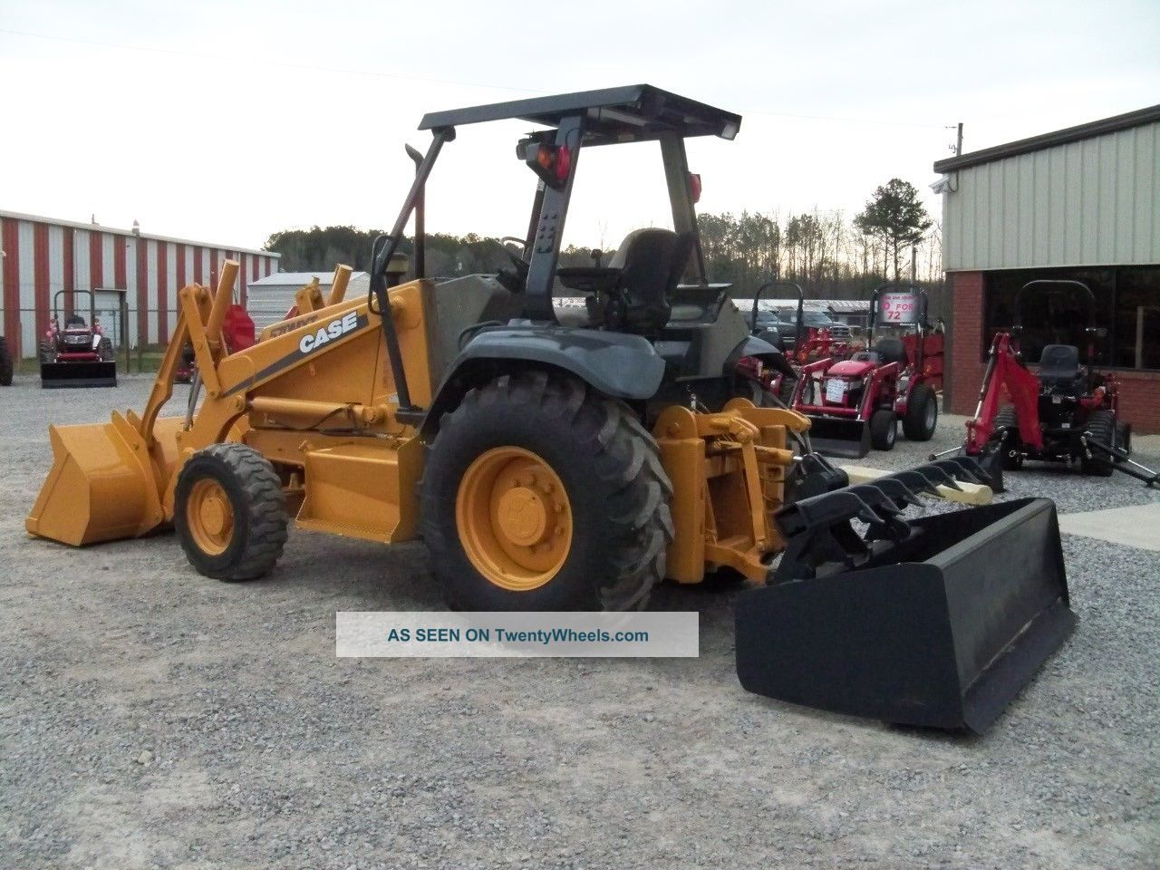 Case 570 Mxt Landscape Tractor With Front End Loader And Boxblade ...