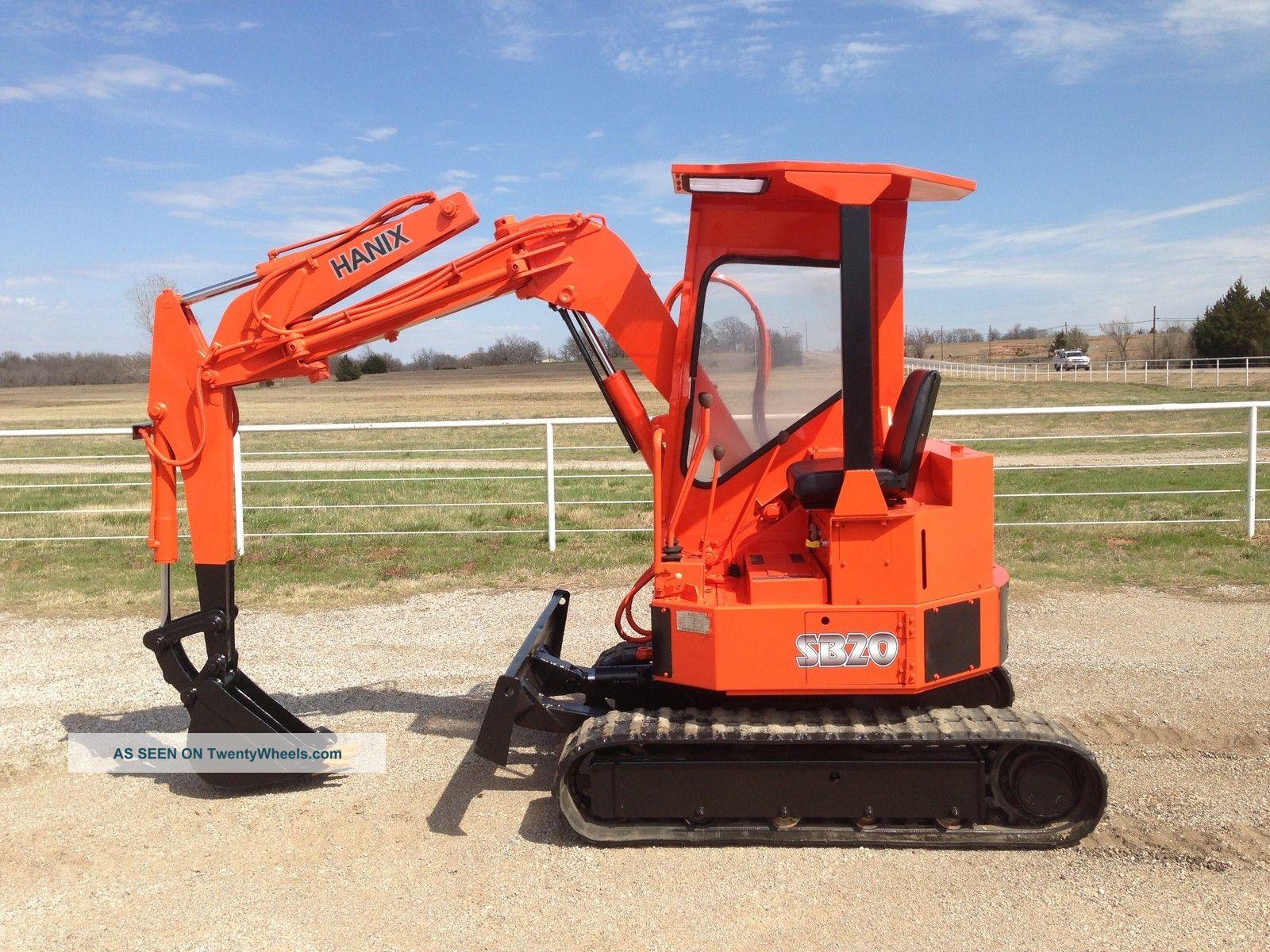 Hanix S&b20 Excavator Trackhoe Backhoe Dozer Yanmar Diesel Excavators photo