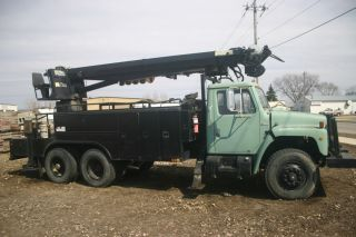Crane Digger Truck 1980 Truck 1990s Altec Digger photo