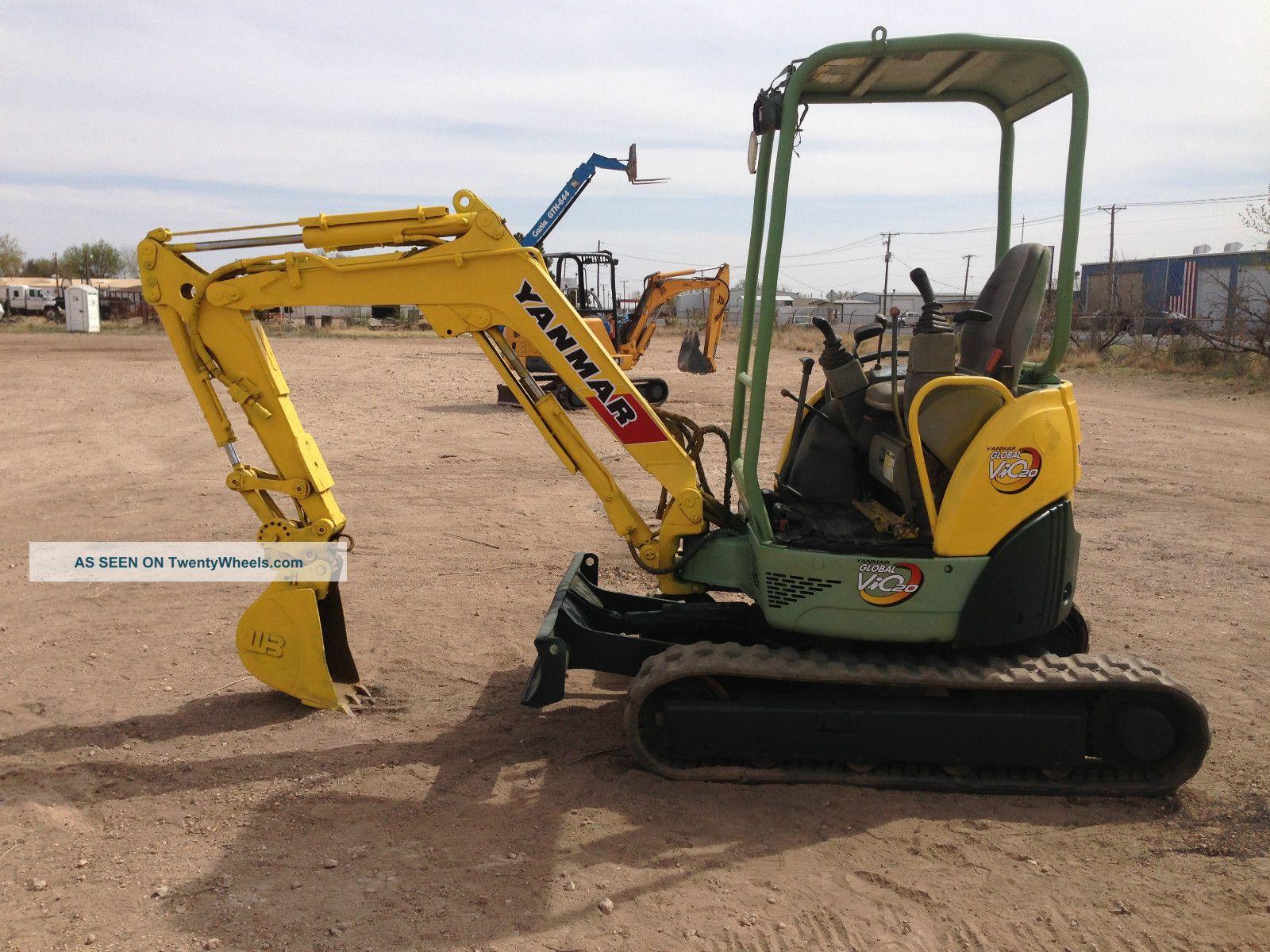 Yanmar Vio20 - 3 Rubber Hydraulic Track Excavator Dozer Loader Diesel Bob Cat Excavators photo