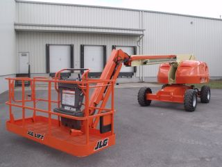 Jlg 460sj Aerial Manlift Straight Boom Lift With Jib Man Boomlift Painted Refurb photo