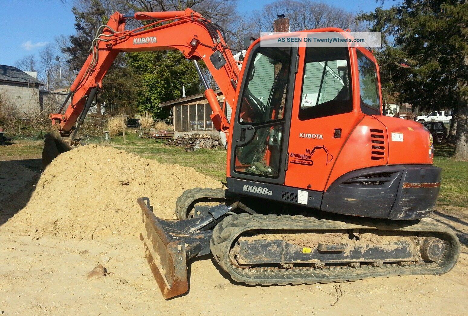 2008 Kubota Kx080 - 3 Excavator,  A/c,  Knuckle,  And Thumb. Excavators photo