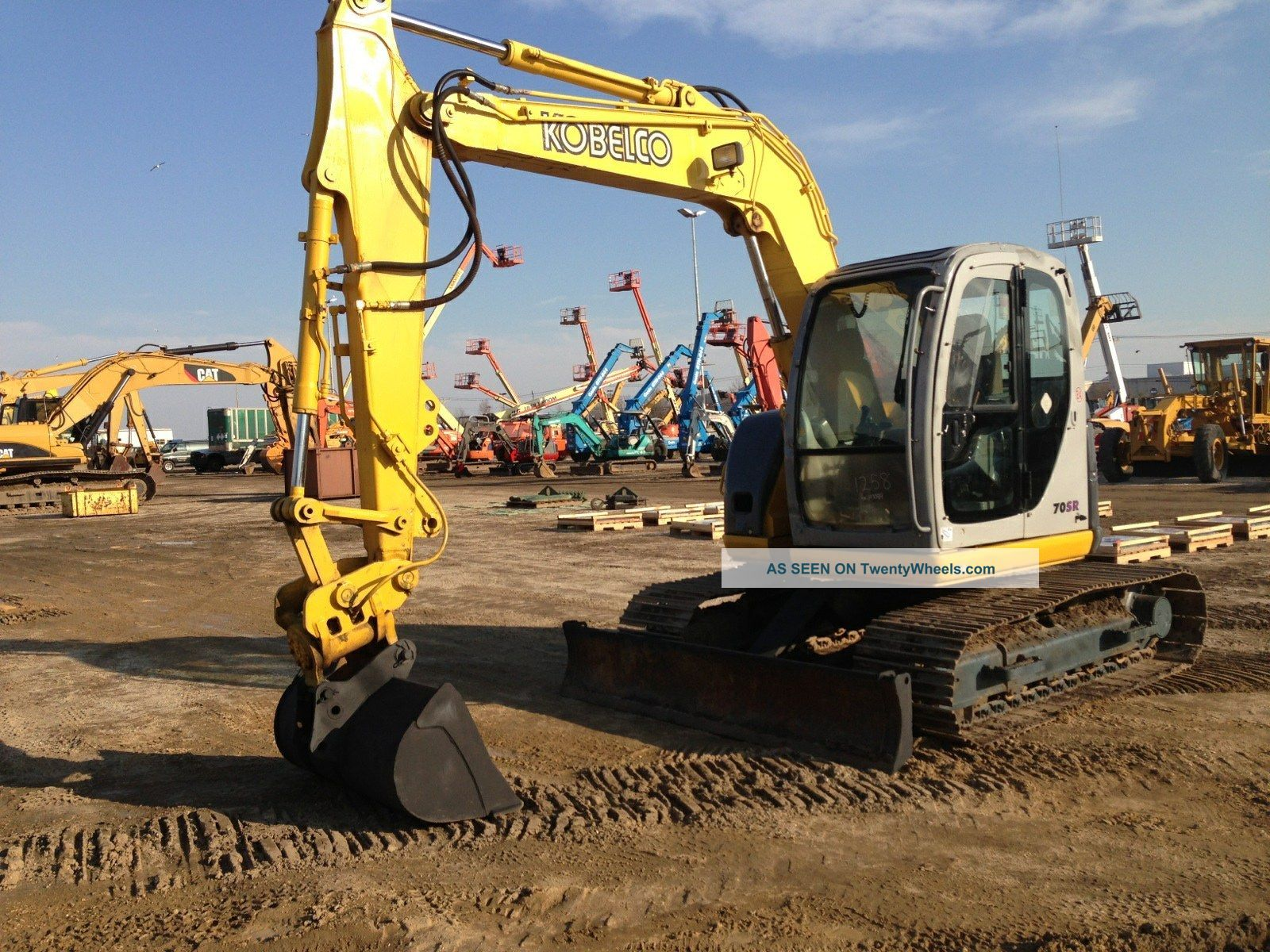 Kobelco Sk70sr Hydraulic Track Excavator Dozer Loader Diesel Cat Power Tilt Excavators photo
