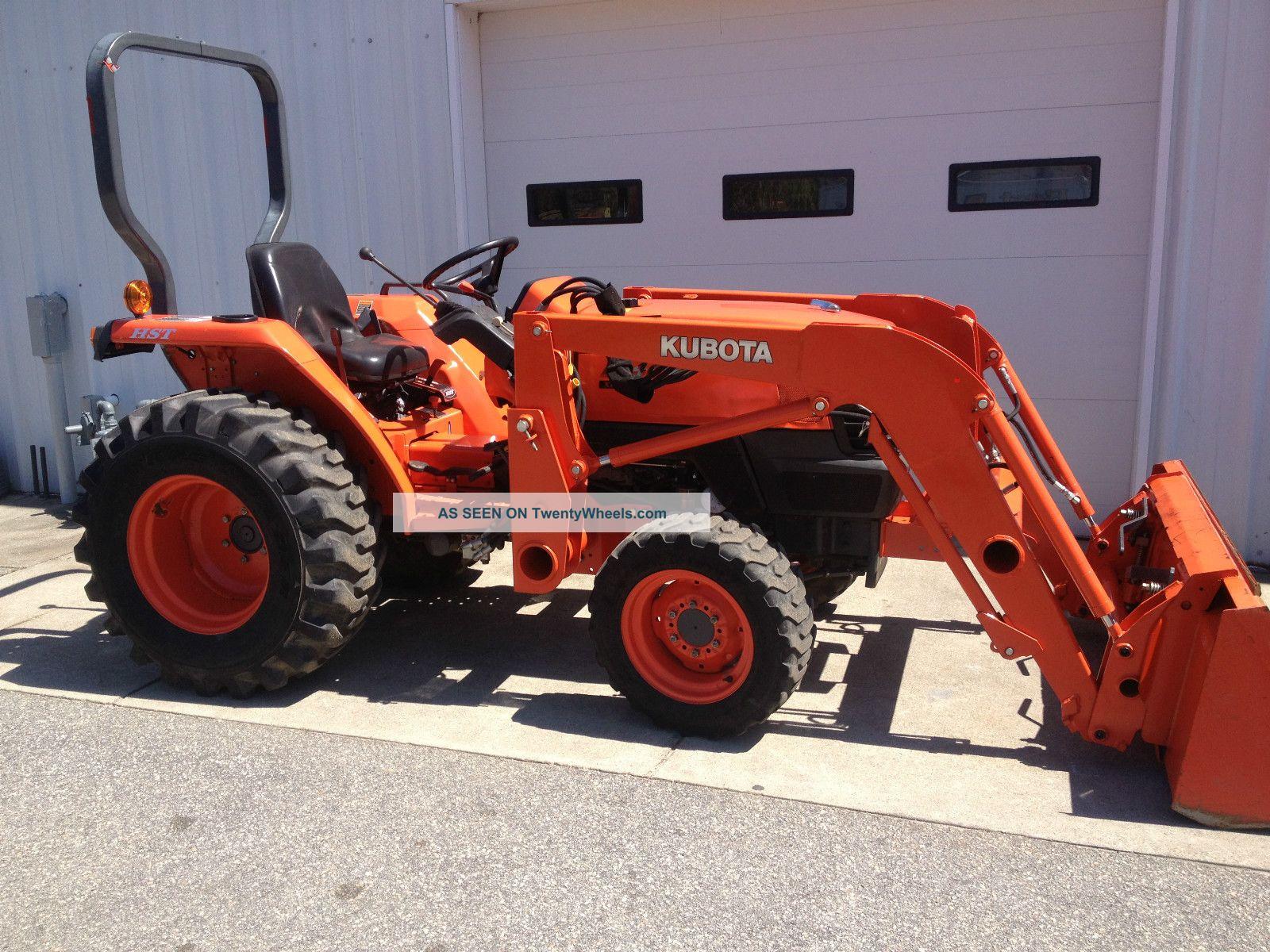 L3400 Kubota Tractor W Loader : Kubota l hst f tractor w loader hydro trans