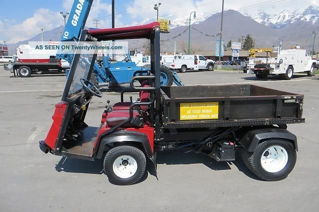 Turf Golf Utility Cart Dump Bed Diesel Differential Lock Toro 3300d Workman Utility Vehicles photo