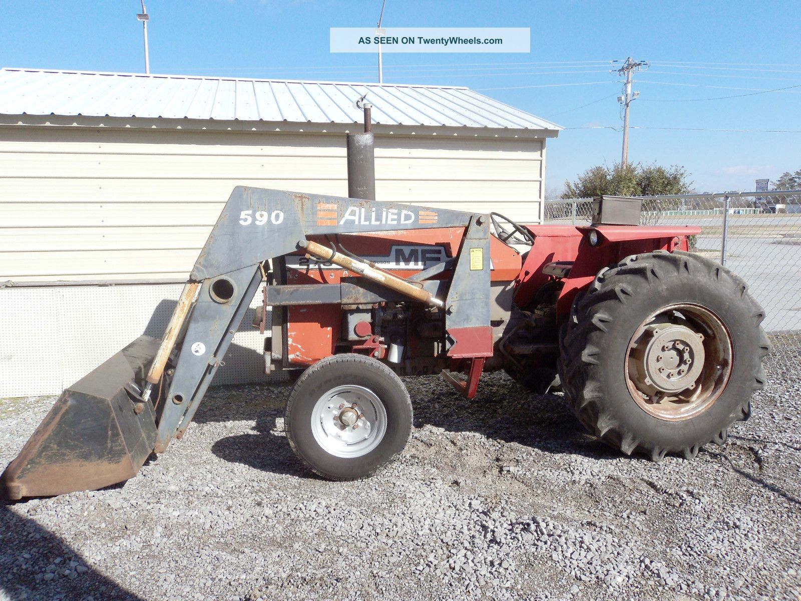 Mf 275 Tractor Data : Massey ferguson tractor with loader