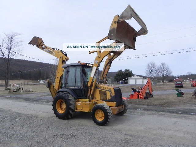 1999 Case 590 L 4x4 Backhoe Loader 4 In 1 Bucket Cab Heat 3544 Hrs Backhoe Loaders photo