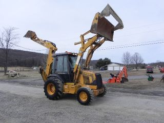 1999 Case 590 L 4x4 Backhoe Loader 4 In 1 Bucket Cab Heat 3544 Hrs photo