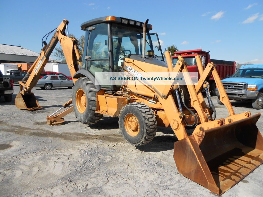 Case 580m Backhoe Loader 4x4 Cab Ext - Hoe Case Controls 2002 Year Heat 4000 Hr Backhoe Loaders photo