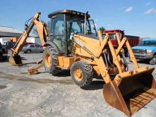 Case 580m Backhoe Loader 4x4 Cab Ext - Hoe Case Controls 2002 Year Heat 4000 Hr photo