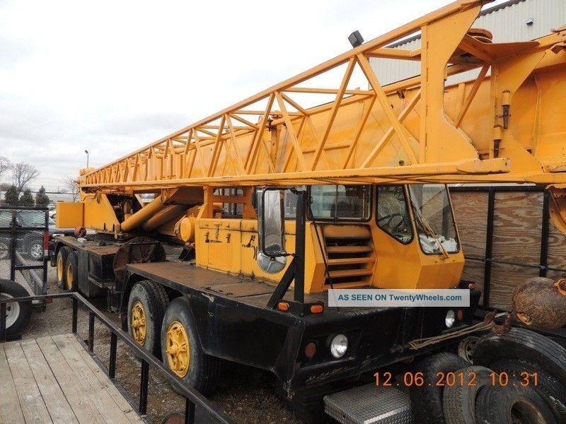 35 Ton Grove Tms300lp Hydraulic Truck Crane.  Grove Truck Crane.  Needs Engine Work Cranes photo