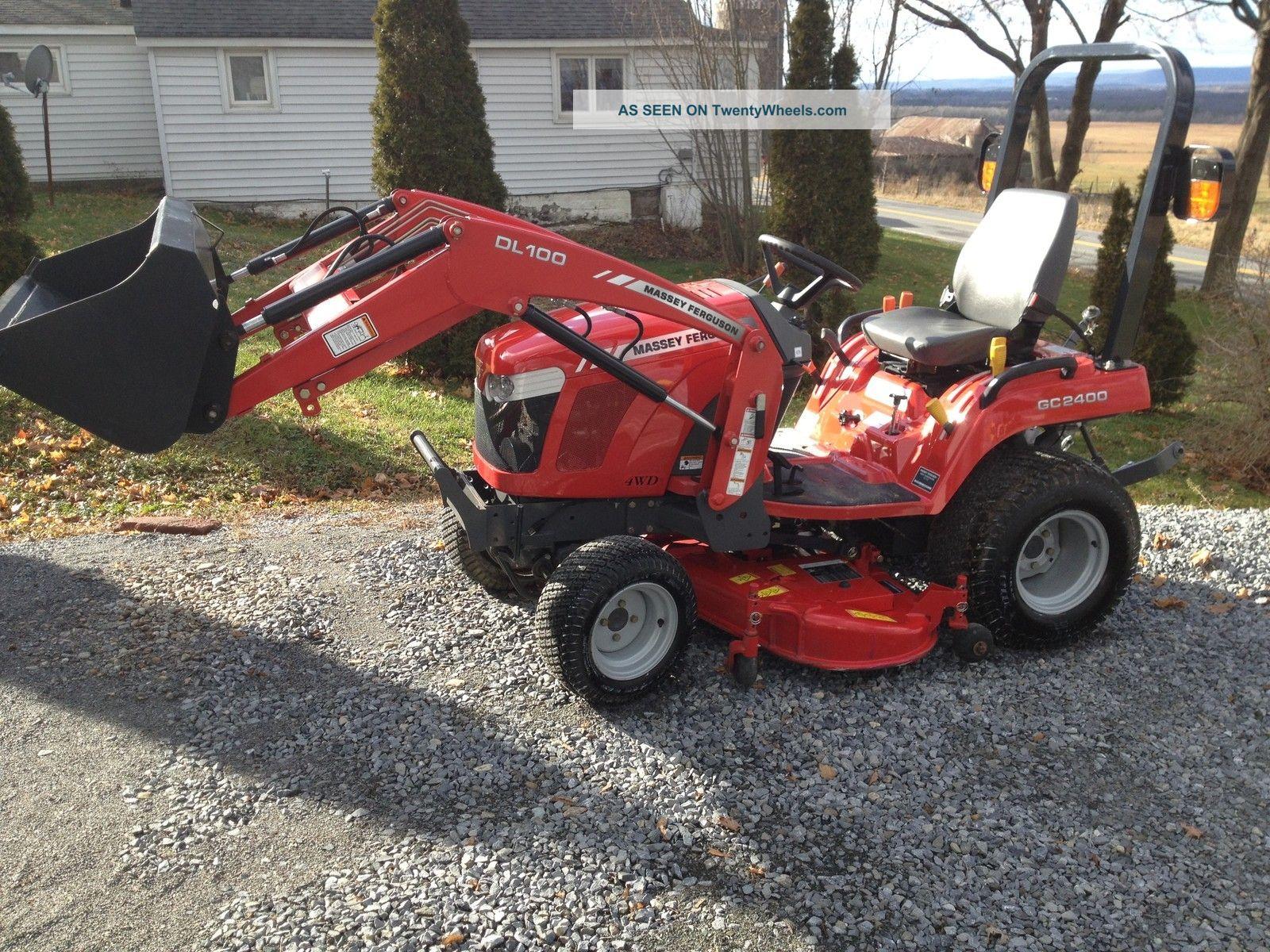 Massey Ferguson 2400 : Massey ferguson gc wd tractor loader quot belly mower
