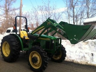 John Deere 5205 4x4 With Loader And Brush Cutter photo