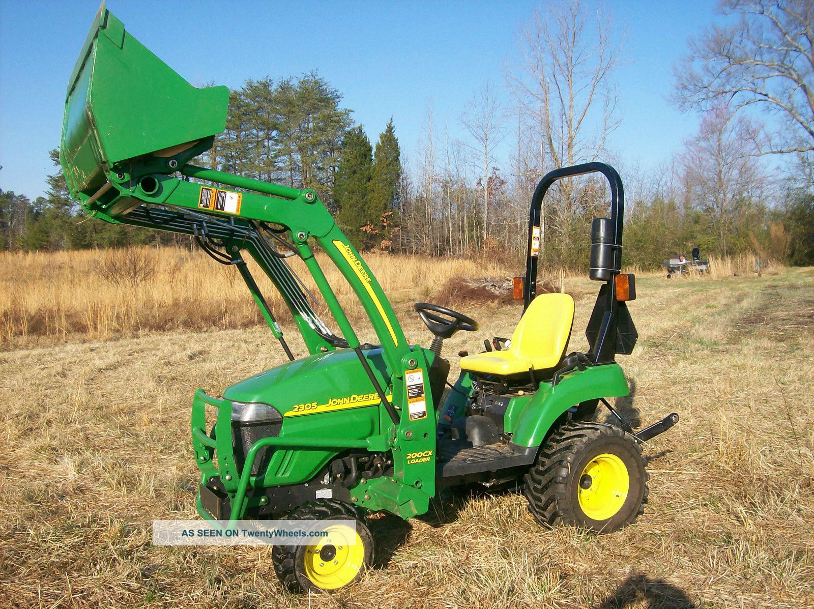 John Deere Wd Diesel Compact Tractor Cx Front Loader Only Hours Lgw