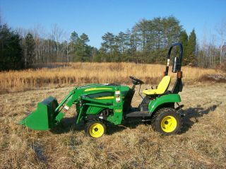 2010 John Deere 2305 4wd Diesel Compact Tractor 200cx Front Loader Only 20 Hours photo