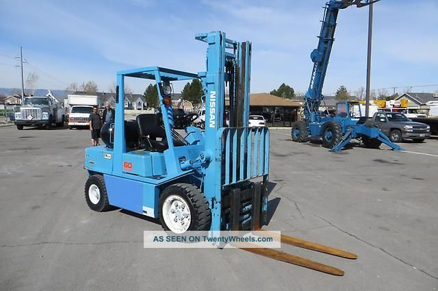Cng Forklift Nissan 60 Side Shift,  Fork Positioners,  5,  400 Lb Natural Gas Forklifts & Other Lifts photo