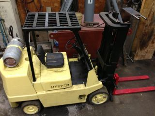 Hyster S80xl Propane Solid Tire Forklift photo
