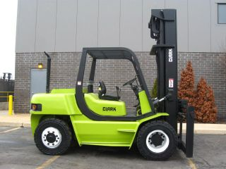 2002 Clark Cmp70 Forklift 15500lb Pneumatic Diesel Lift Truck photo