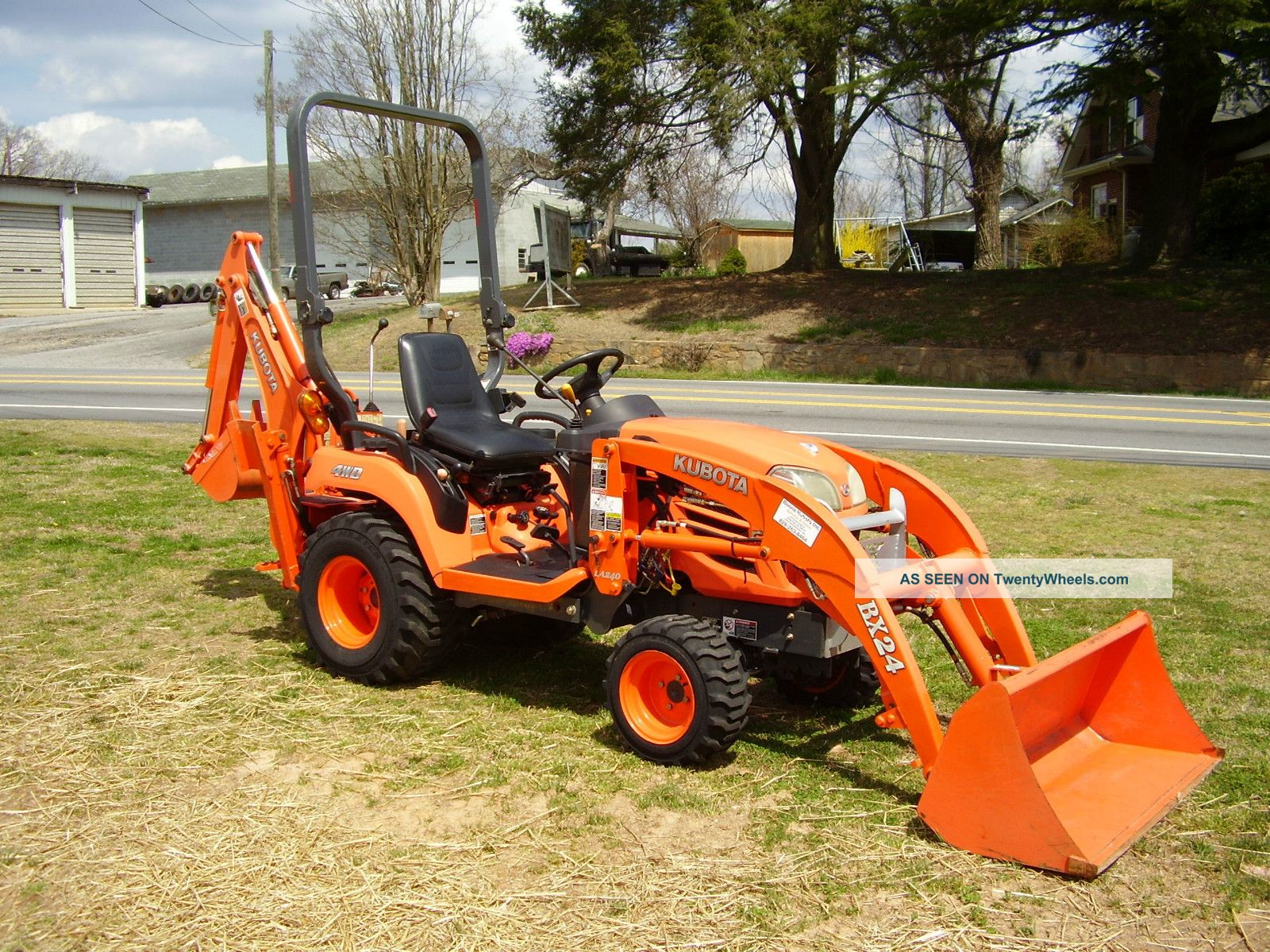 Kubota Bx 24 4 X 4 Loader Backhoe Tractor Tractors photo