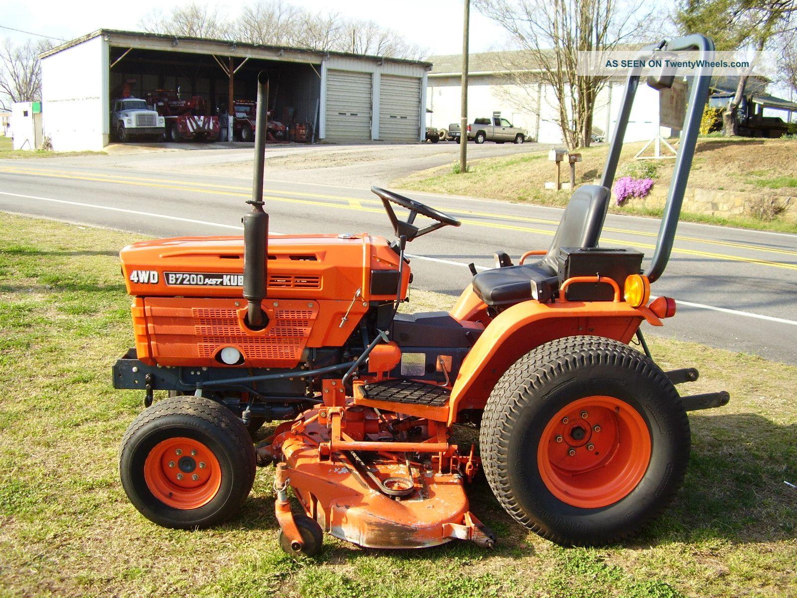 Kubota B 7200 Hst 4 X 4 Mower Tractor Tractors photo