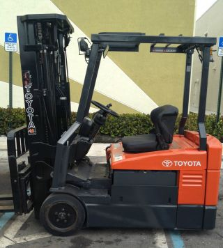 2007 Toyota Forklift Model 7fbeu20 4000lbs Quad Mass W/ Side Shift photo