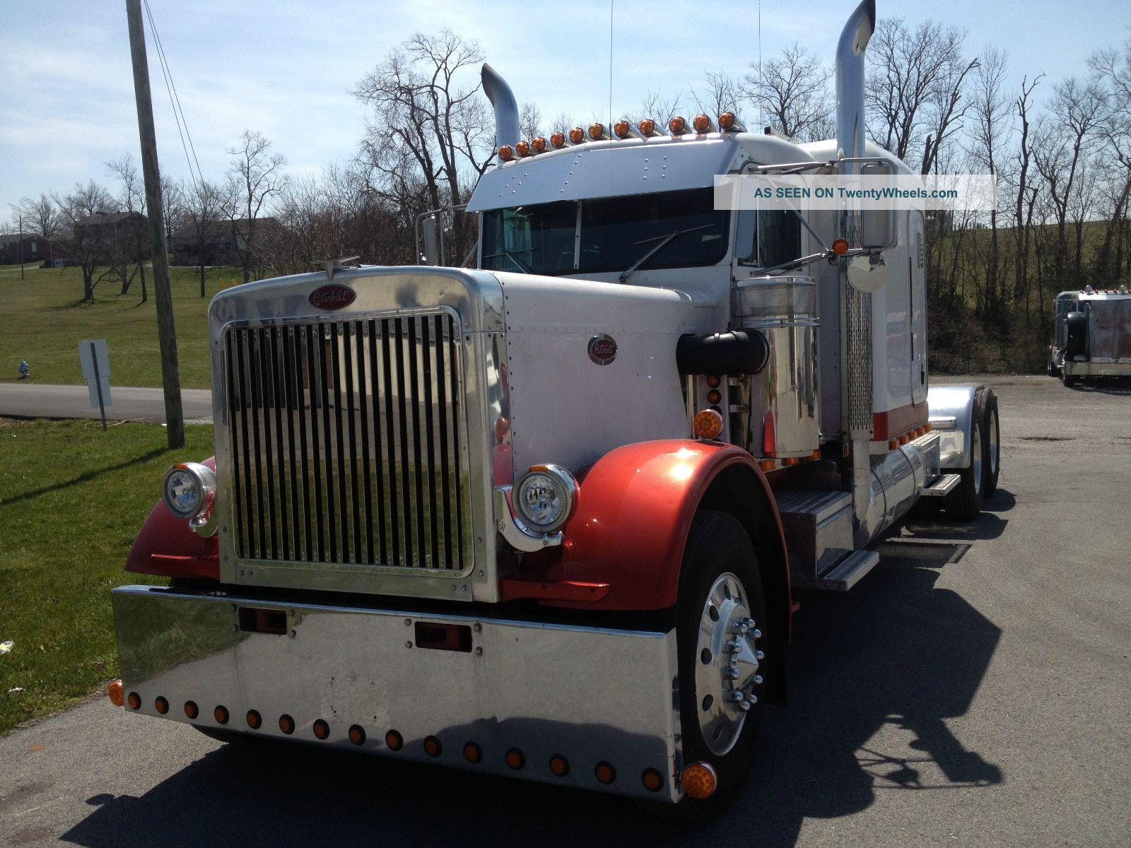 Semi Truck Hoods : Peterbilt extended hood