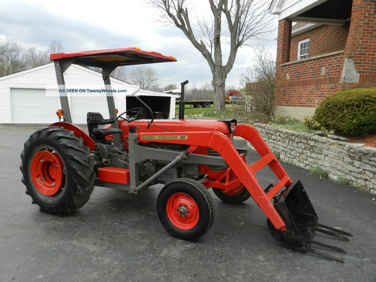 Massey Ferguson 65 Tractor Front Hydraulic Loader