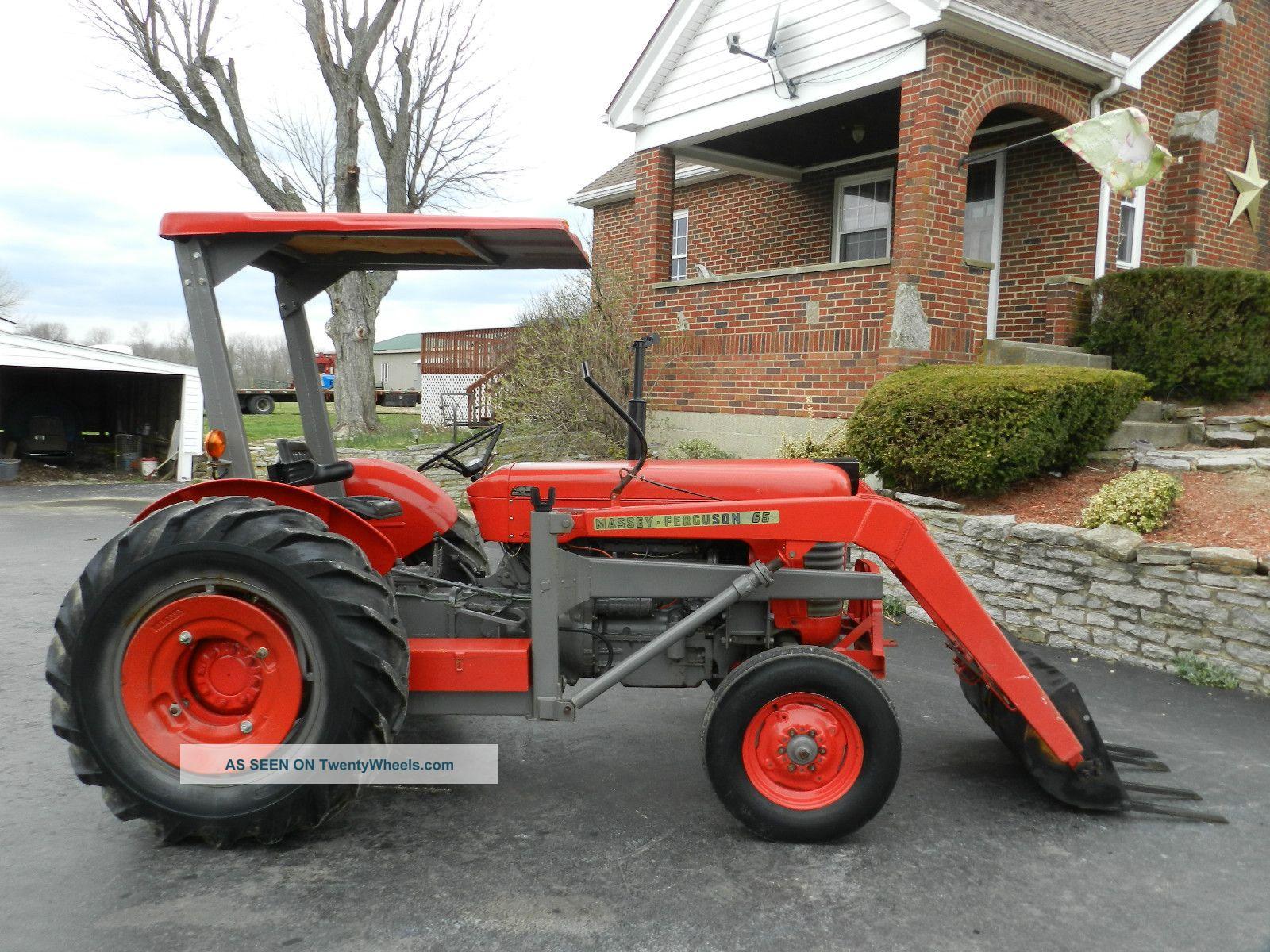 Massey Ferguson 65 Tractor With Loader : Massey ferguson tractor front hydraulic loader diesel