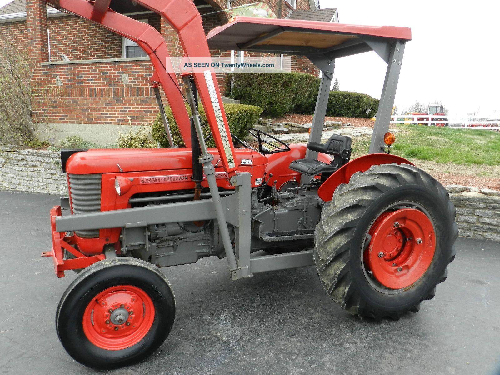 Massey Ferguson 65 Tractor & Front Hydraulic Loader - Diesel