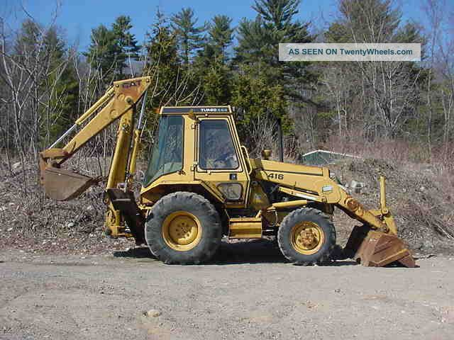 Caterpillar Cat 416 4x4 Turbo Backhoe Loader 3871 Hrs Diesel Erops Backhoe Loaders photo