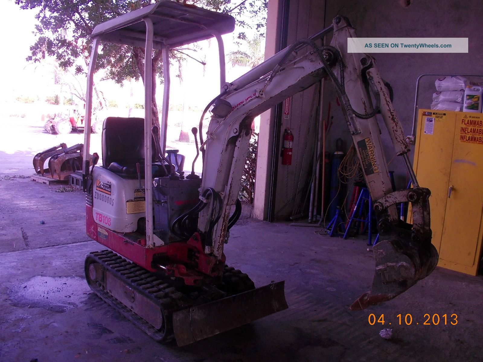 Takeuchi Tb108 Mini Excavator,  Goes Thru 30