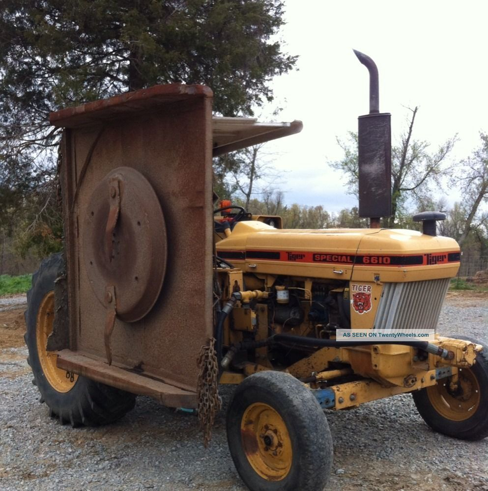 Side Picture Of Tractor : Ford tractor w tiger side mount mower good farm
