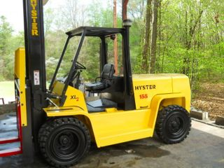 Hyster 15500 Lb Capacity Forklift Lift Truck Pneumatic Tire Dual Tires photo