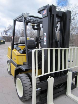 2004 Yale Glp080 Pneumatic Forklift Lift Truck Hilo Fork,  8,  000lb Hyster photo