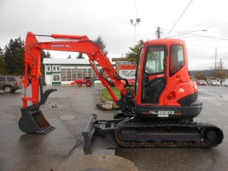 2008 Kubota Kx161 - 3s,  Thumb,  Cab,  Heat,  A/c,  Angle Blade,  3 Buckets.   Kfgt photo