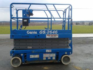 Genie Gs2646 Electric Scissor Lift Aerial Work Platform Jlg Skyjack photo