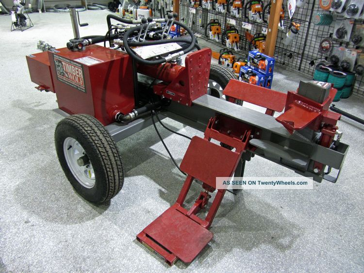 how to build a wood splitter using tractor hydraulics
