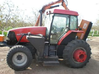 1999 Case Ih Mx120 4wd Cab With Boom Mower photo