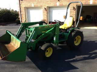 John Deere 4100 Tractor 3 Attachments Only 83 Hours photo