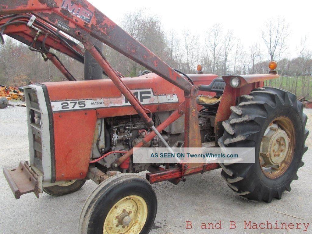 Mf 275 Tractor Data : Massey ferguson diesel farm tractor with loader